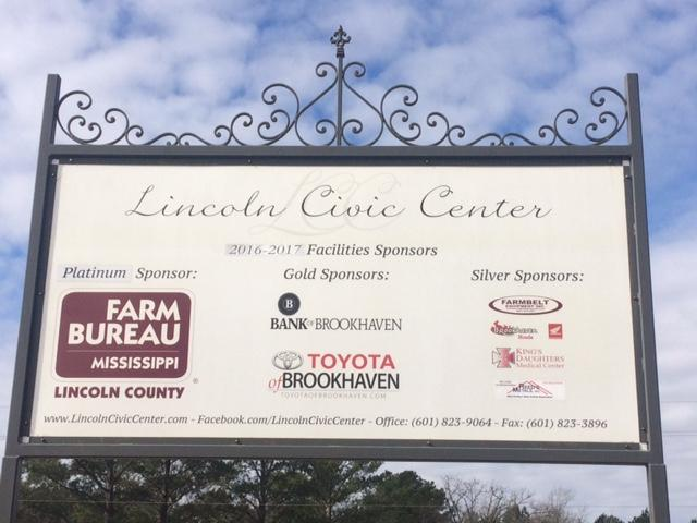 lincoln counnty ms civic center sponsors